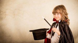 little girl magician